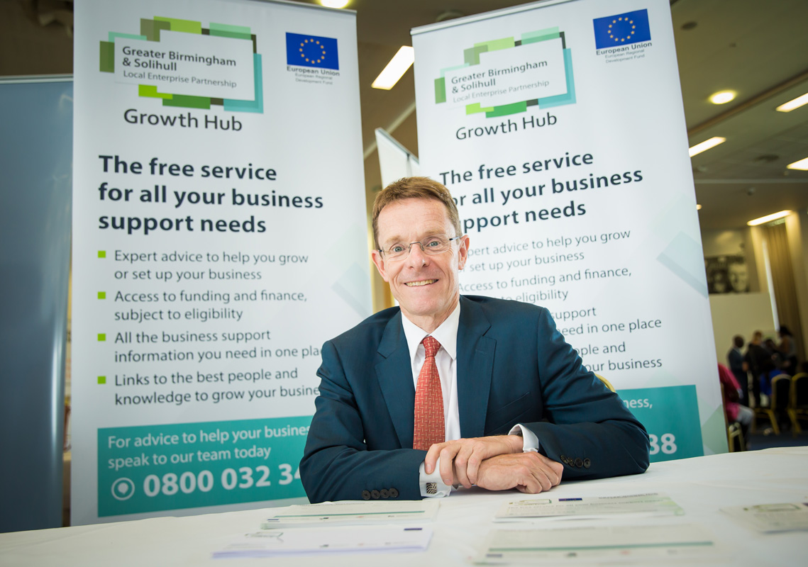 Image of Andy Street, Mayor of West Midlands at the Growth Hub Business Support Showcase event